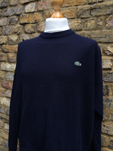Vintage Navy Wool Lacoste knit (S/M)