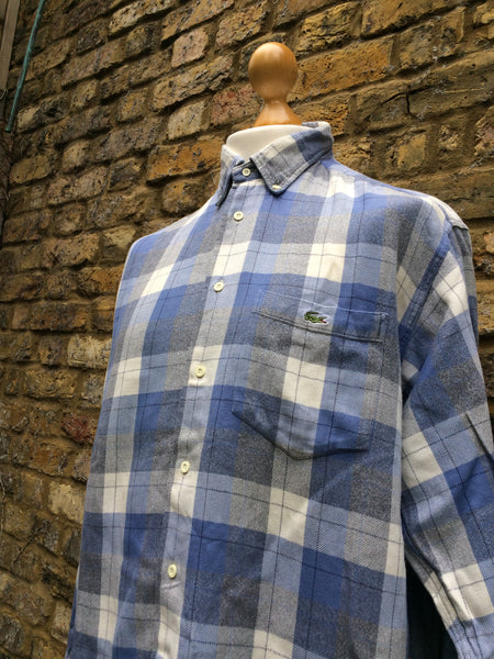 Vintage picnic checked Lacoste Flannel (M)