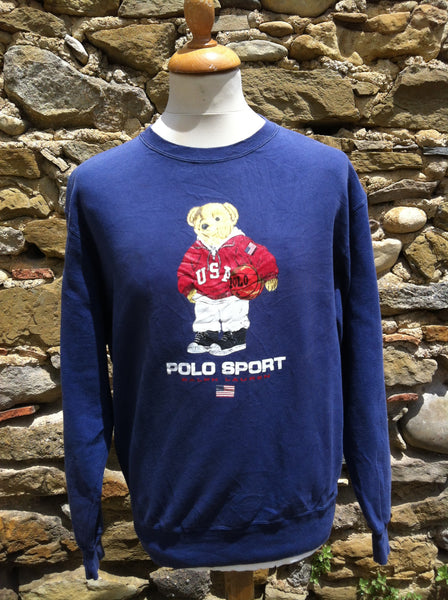 Vintage Navy Polo Bear Sweater