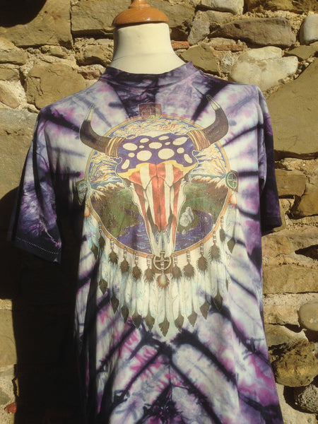 Vintage 1988 tribal tie dye Top (M)