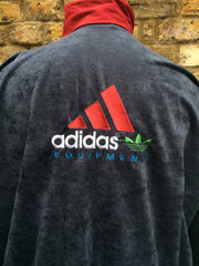 vintage suede Adidas Equipment Track zip up (XL/XXL)