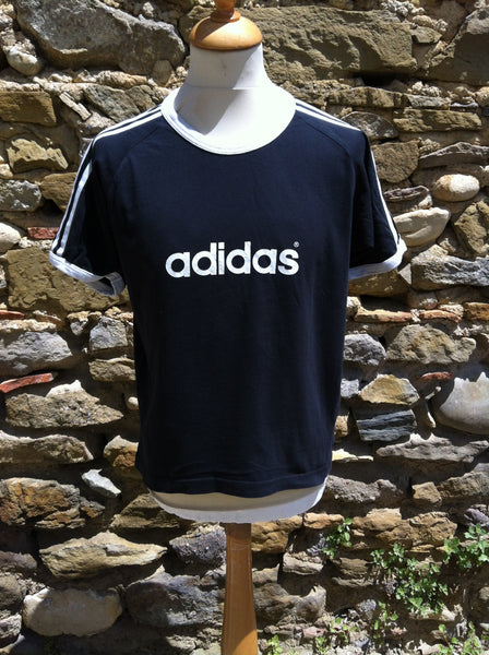Vintage 80's Adidas spellout Top
