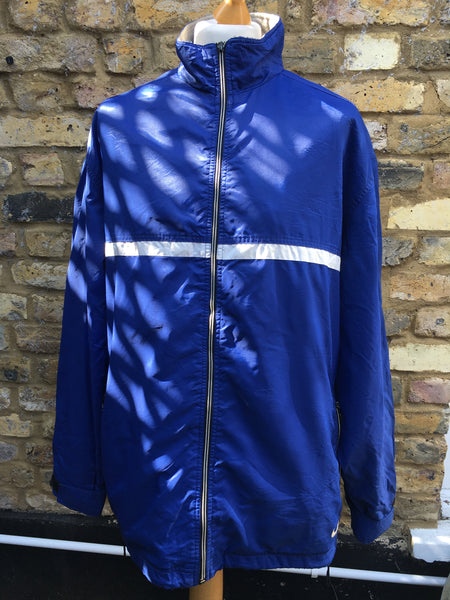 Vintage electric Blue fleece Nike Jacket (XL)