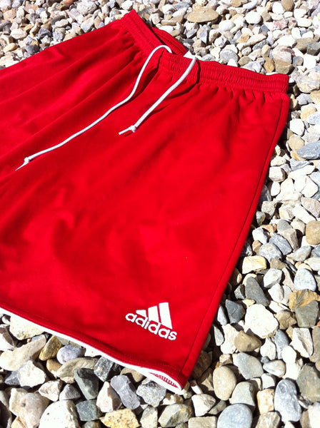 Red Silky Adidas Track Short's