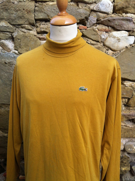 Vintage Mustard Yellow Lacoste turtleneck