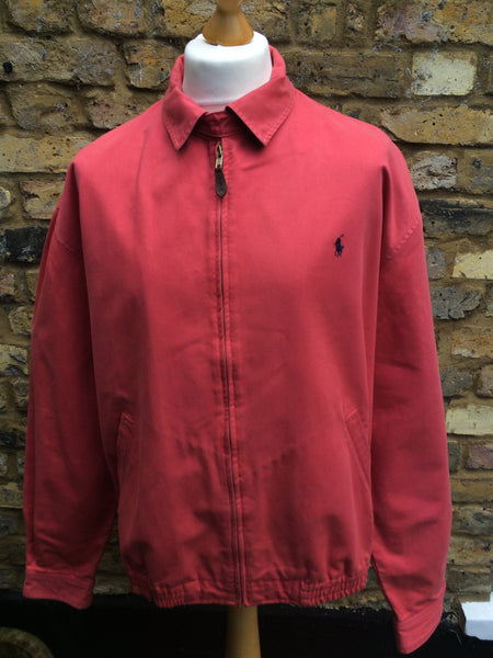Vintage pastel Red Polo Harrington (XL)