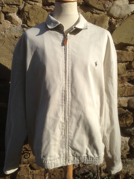 Cream Polo Harrington (XXL)