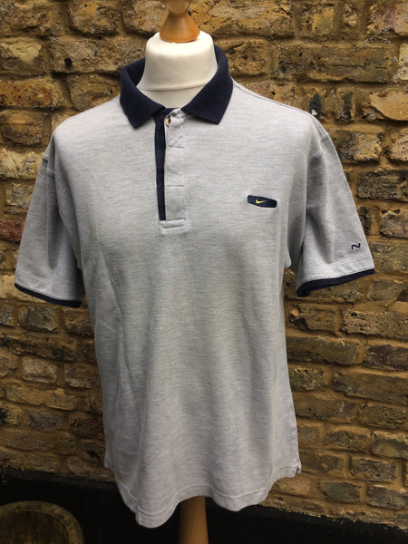 Vintage Nike patch Polo (M)
