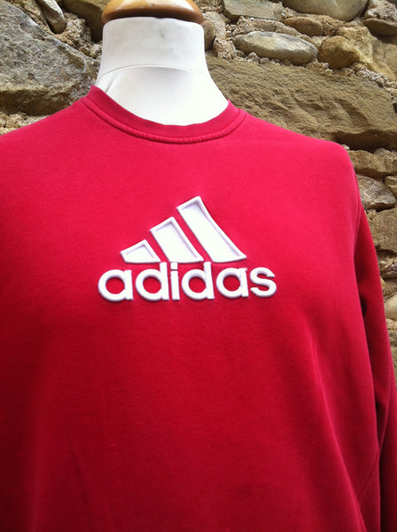 Vintage red layered patch Adidas Sweater