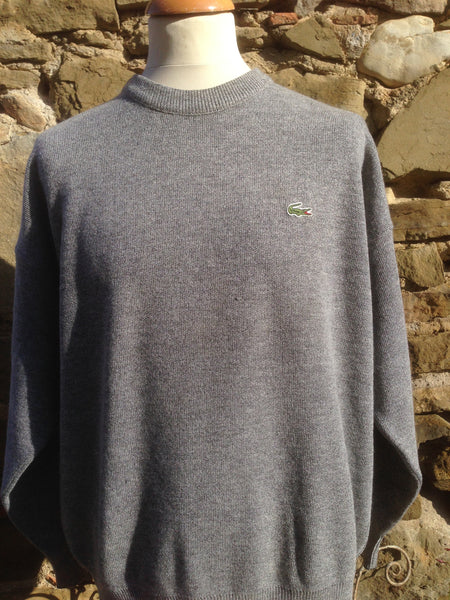 Vintage stone wash Grey Lacoste knit