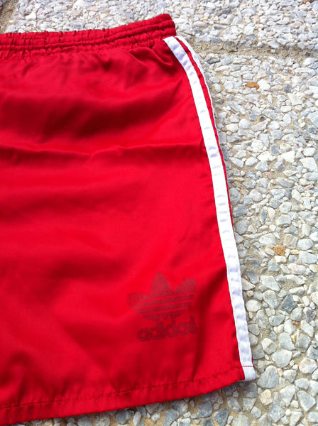 Vintage Red Adidas Track Short's