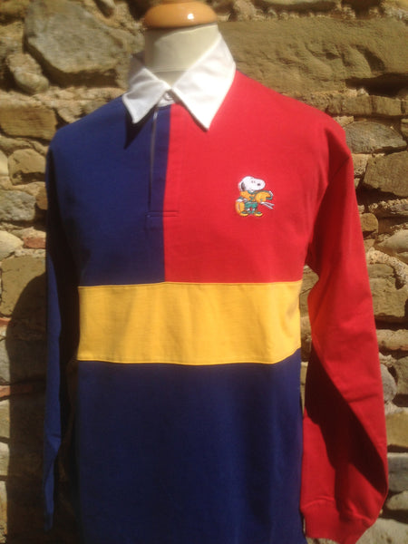Vintage colour block Snoopy Rugby (M)