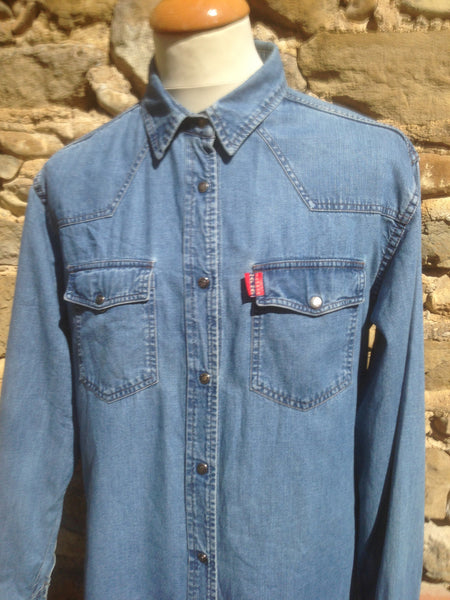 Vintage Naf Naf Denim Shirt (M)