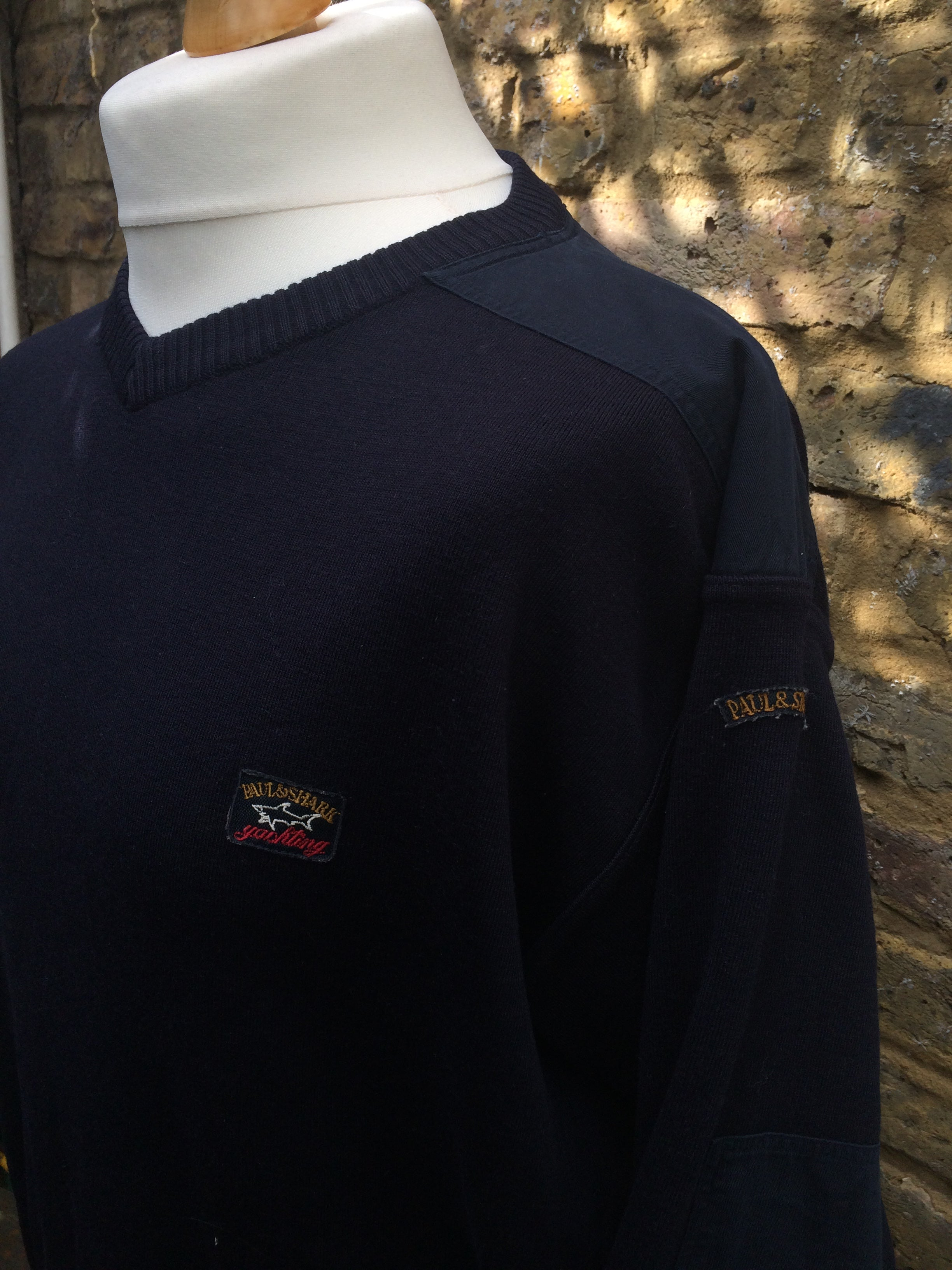 a basso prezzo 8e4f6 4956d Vintage Navy Wool Paul & Shark Pullover (M) – Column11