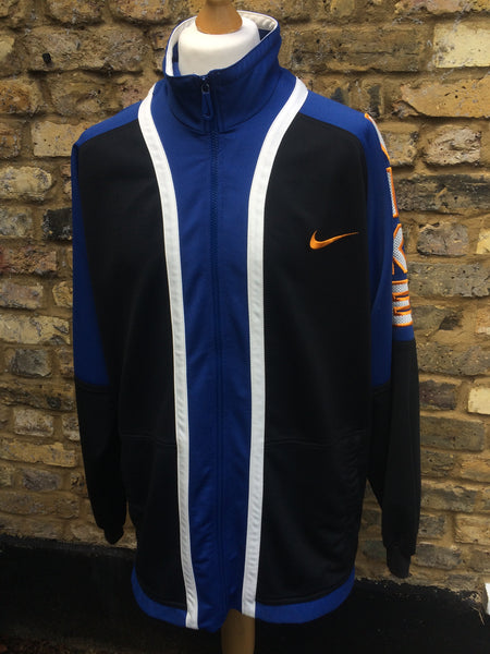 Vintage Nike mesh spellout Track Jacket (XL)