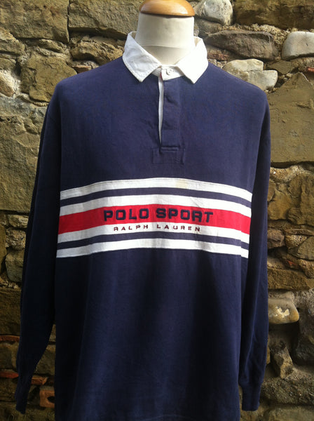 Vintage 3 Stripe Polo Sport Rugby Shirt