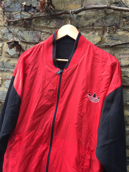 Vintage rare reversible Adidas trefoil zip up (M)
