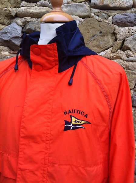 Vintage Orange Nautica Marines Jacket