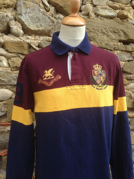 Polo striped crest Rugby (M)