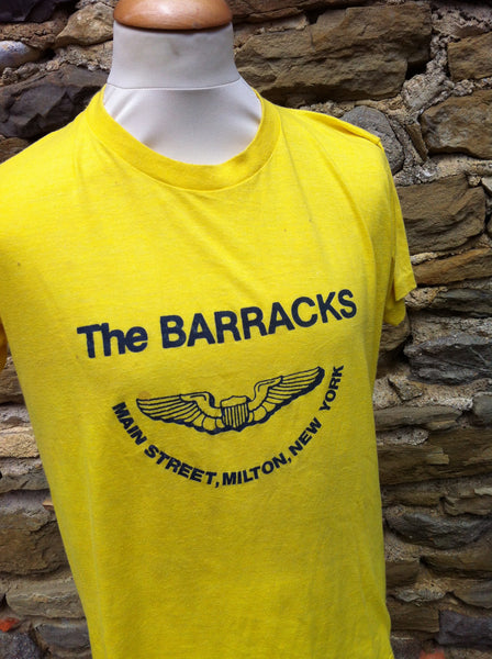 Vintage Yellow The Barrack's Print Top