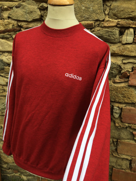 Vintage Red Marble Adidas script Sweater (M/L)