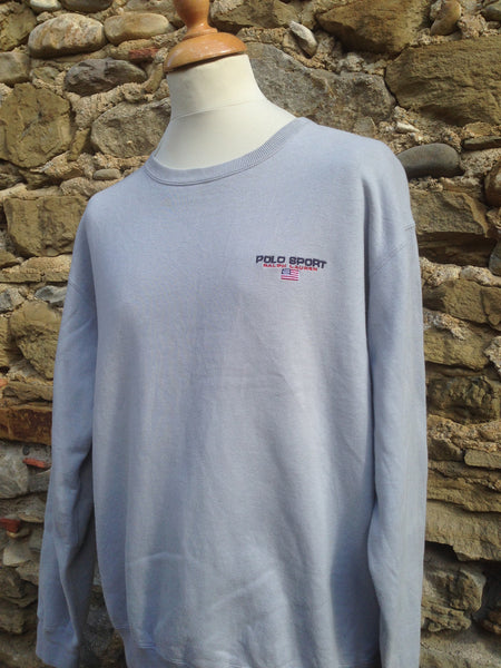 Vintage charcoal Polo Sport script Sweater
