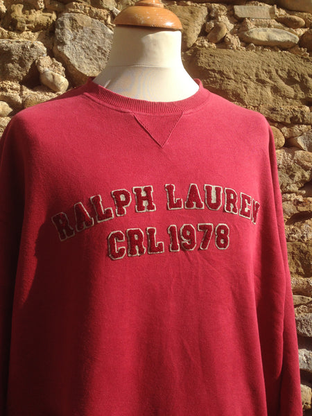 Vintage CRL fleece script Sweater