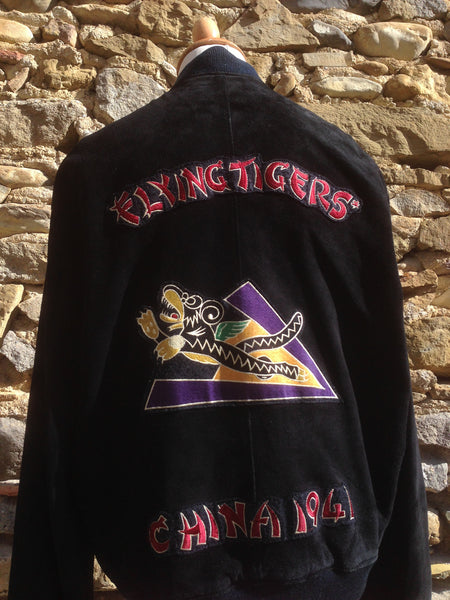 Vintage flying Tigers Avirex Leather Bomber (L)