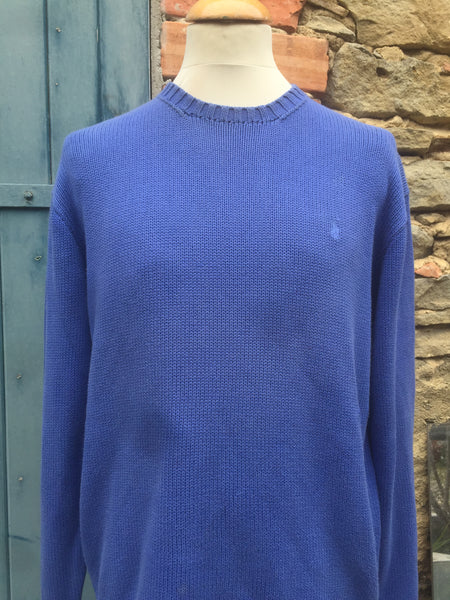 Vintage Blue Polo Knit (M/L)