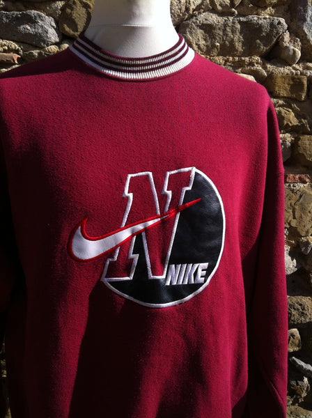 Vintage early Nike College Patch Sweater