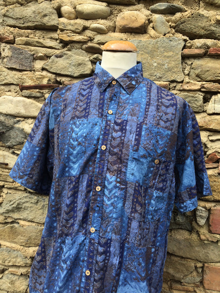 Mixed Blue patterned Shirt (M/L)