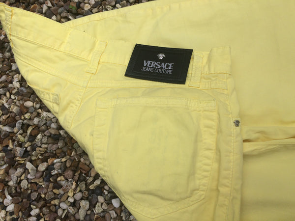 Womens Solar Yellow Versace Trousers