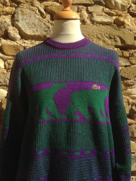 Vintage Polo bear Lacoste Knit