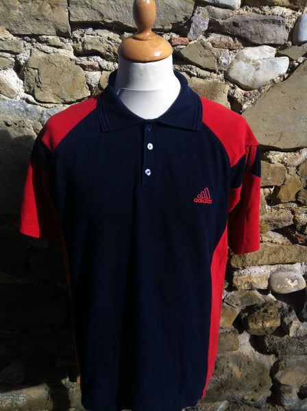 Cherry red tint Adidas Polo (M/L)