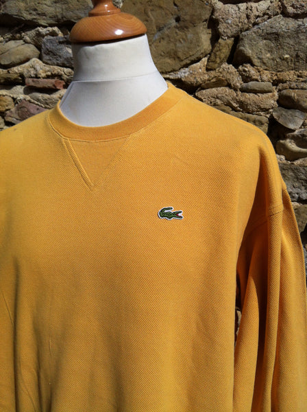 Vintage Mustard Yellow Cord Lacoste Sweater