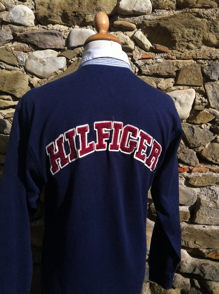 Vintage Tommy Fleece script Rugby Shirt