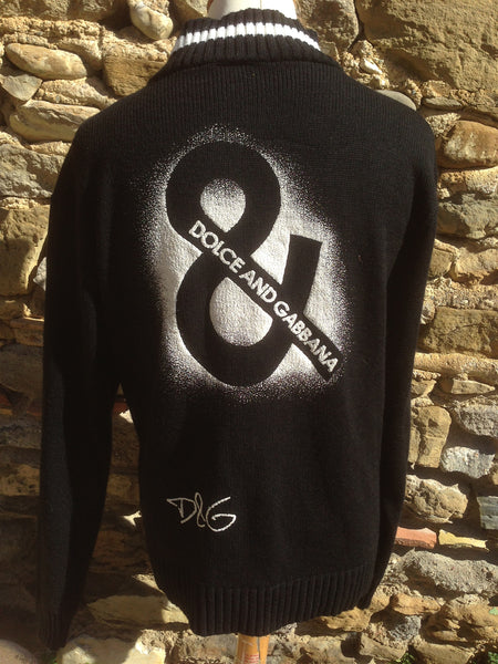 Replica black spray D&G zip up (M/L)