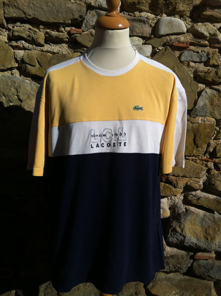 Vintage yellow LCL Lacoste Cord Top