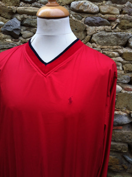 Vintage Red Polo Sport Pullover Jacket