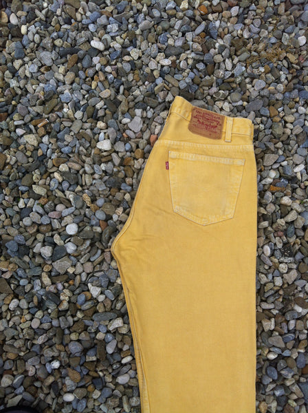 Mustard Yellow Levi's 501 Jeans
