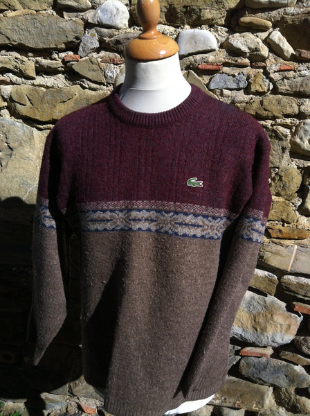 Vintabe patterned Wool Lacoste knitwear