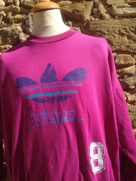 Vintage Pink Watercolour Adidas Sweater (S)