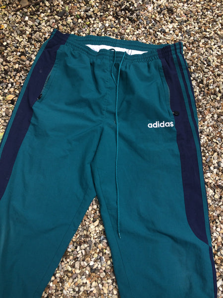 Vintage Teal Adidas Bottoms (XL)