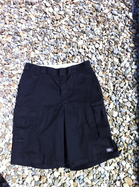 Black Dickies 3/4 Length Work Shorts