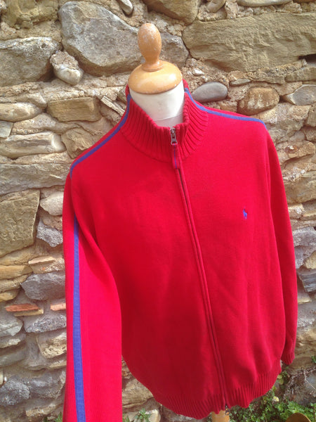 Heavy Red Polo zip up (M/L)