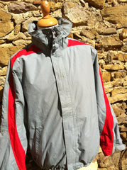 Vintage red Striped Helly Hansen Jacket