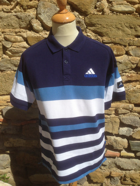 Vintaged Mixed Blue Adidas corporate Polo (M)