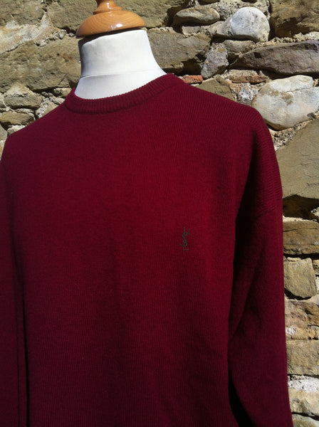 Vintage early YSL maroon knitwear