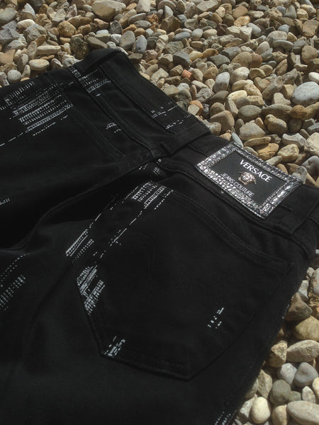 Black Versace analog Jeans (27/41)
