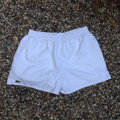 White Lacoste Sports Sprinter Shorts (M)